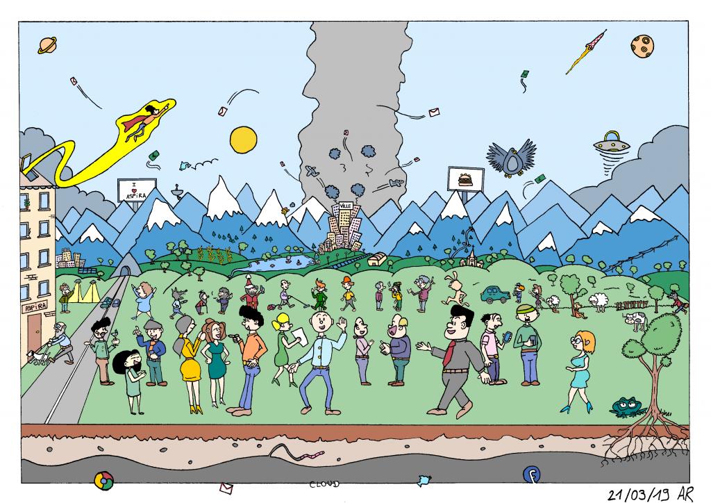 Bande dessinée Course de Rats sur le monde de l'entreprise.