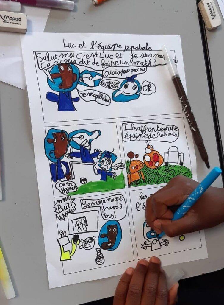 Atelier bande dessinée - dessin BD couleur