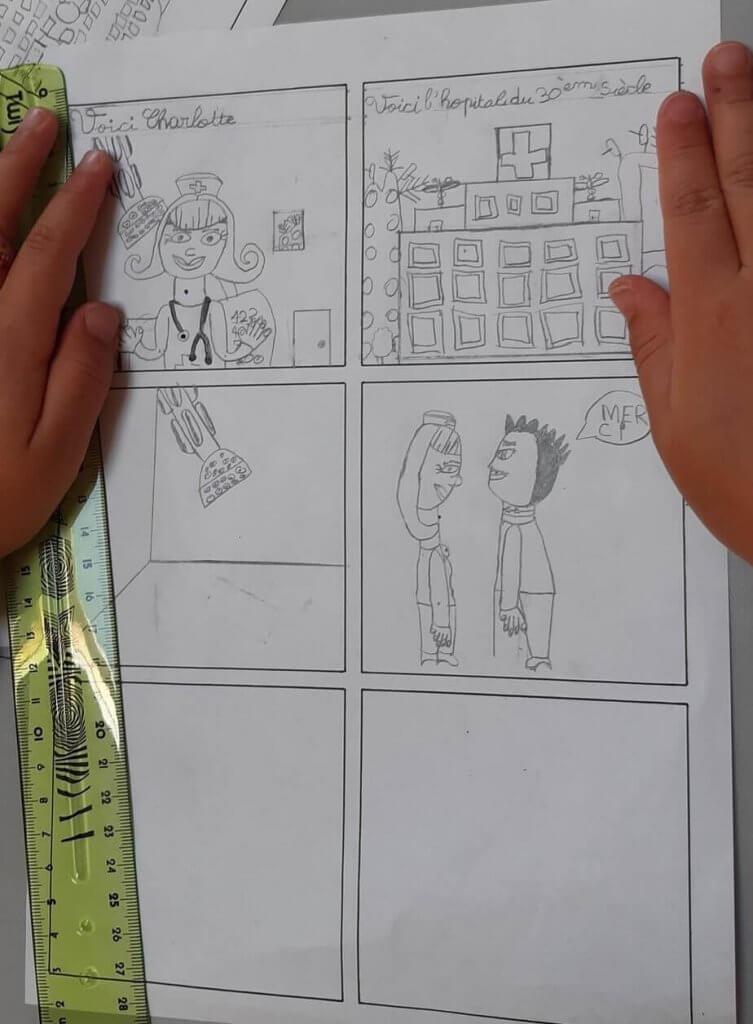 Atelier BD - Planche de bande dessinée