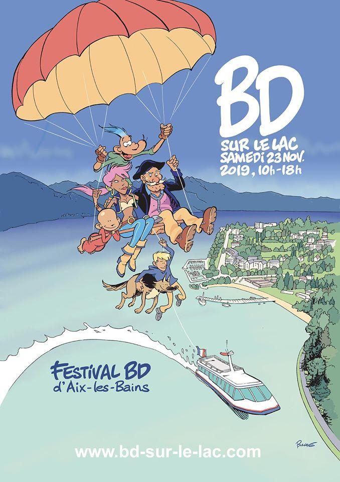 Affiche du festival de la bande dessinée d'Aix les bains