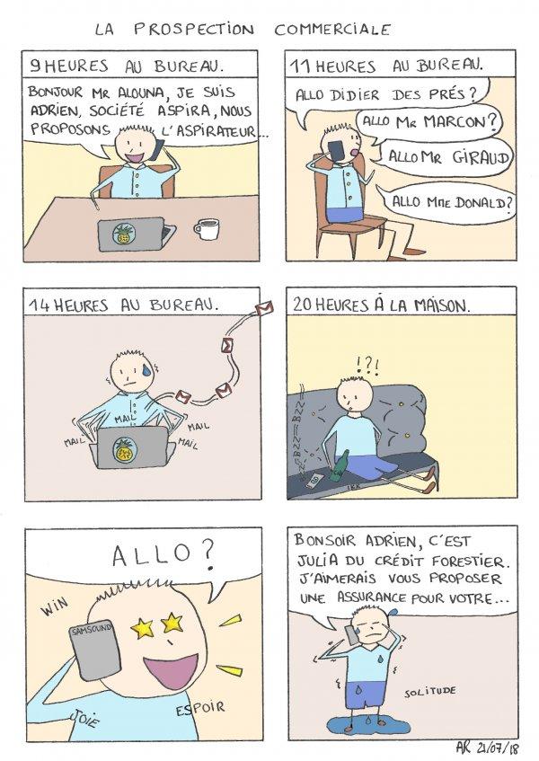 BD drôle - La prospection commerciale - bande dessinée en ligne - BD Gratuit