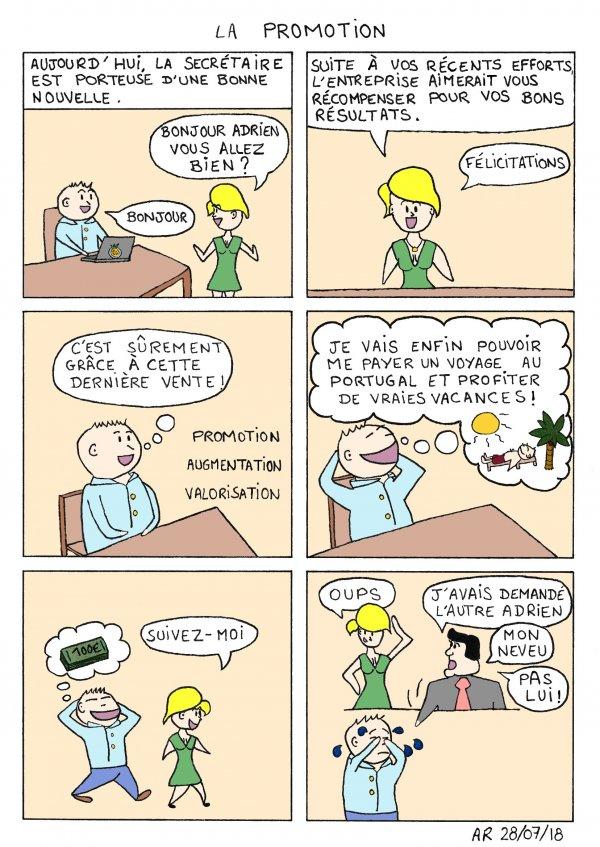 la Promotion - Blague BD en ligne - lecture gratuite - image humoristique