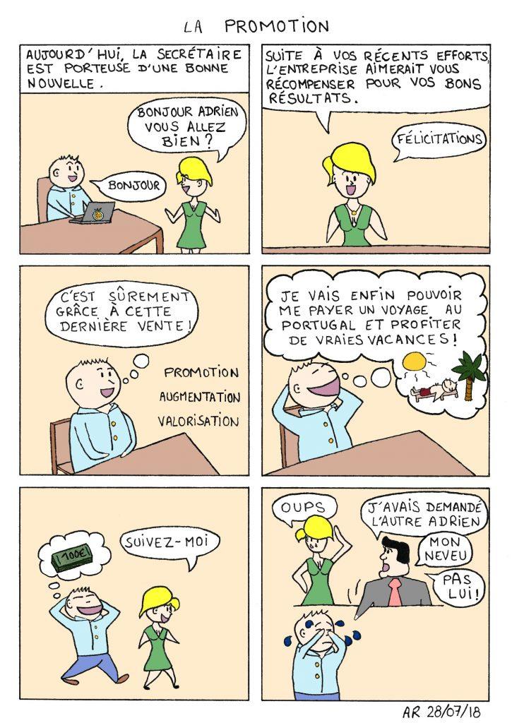 la Promotion - Mini bd comique - lecture gratuite - image humoristique