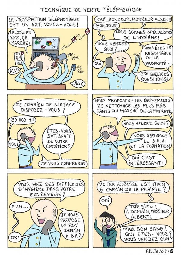 Image drôle et BD - Technique de phoning - bande dessinée gratuite