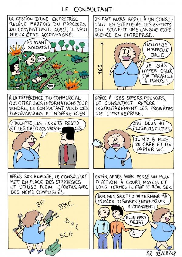 BD drôle en ligne - bande dessinée satirique - Le consultant marketing - Meilleur webtoon