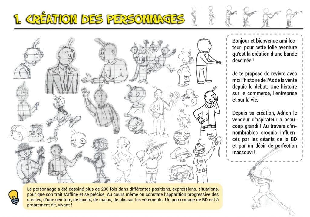 Créer des personnages de BD, tuto dessin