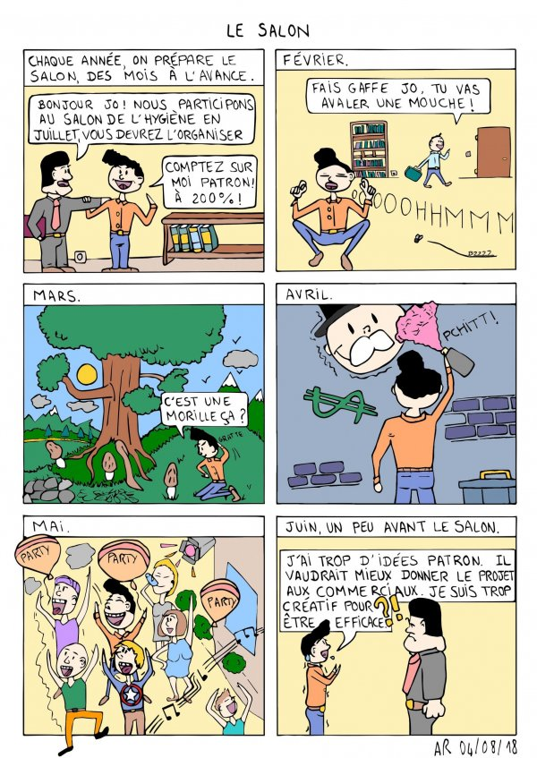 bande dessinée en ligne - Le salon professionnel - web comic humoristique- BD drôle