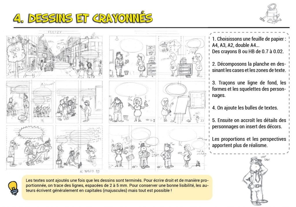 Dessiner une bande-dessinée - dessin perspectives proportions et décors - tuto BD