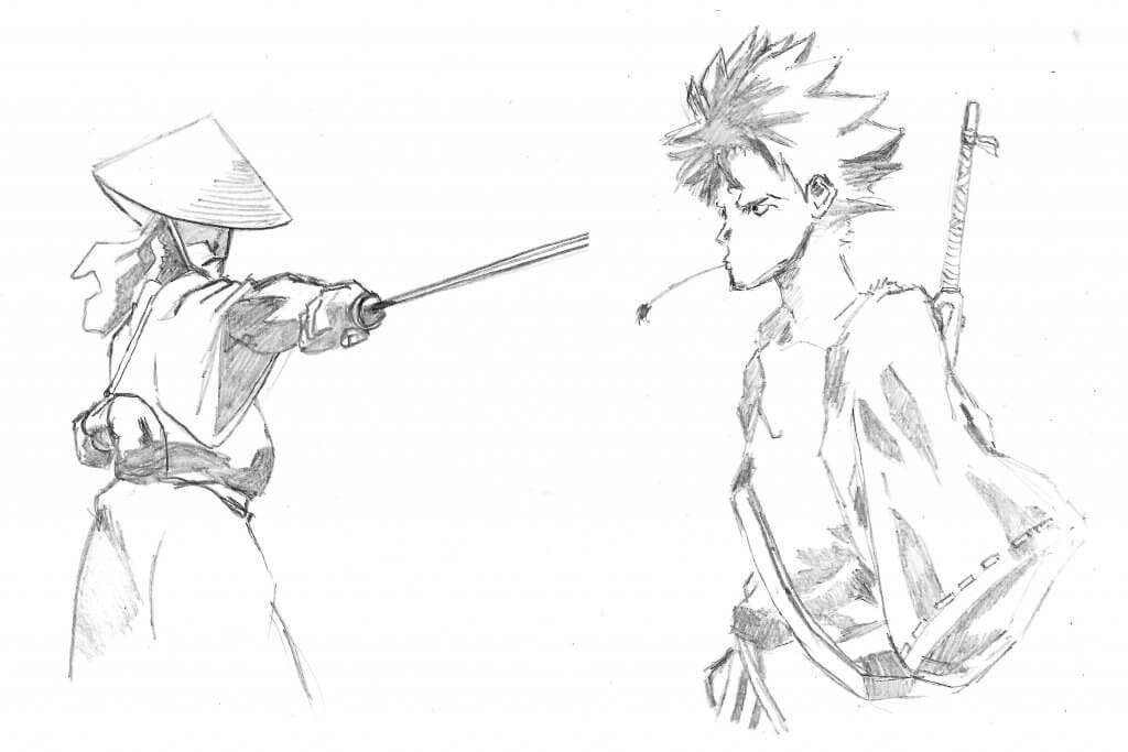 Dessin manga Japonais - samurai champloo