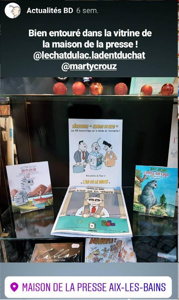 La bande dessinée - Course de Rats à Aix-les-bains