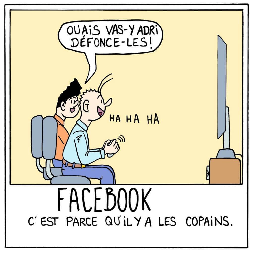 photo humoristique sur le réseau social Facebook