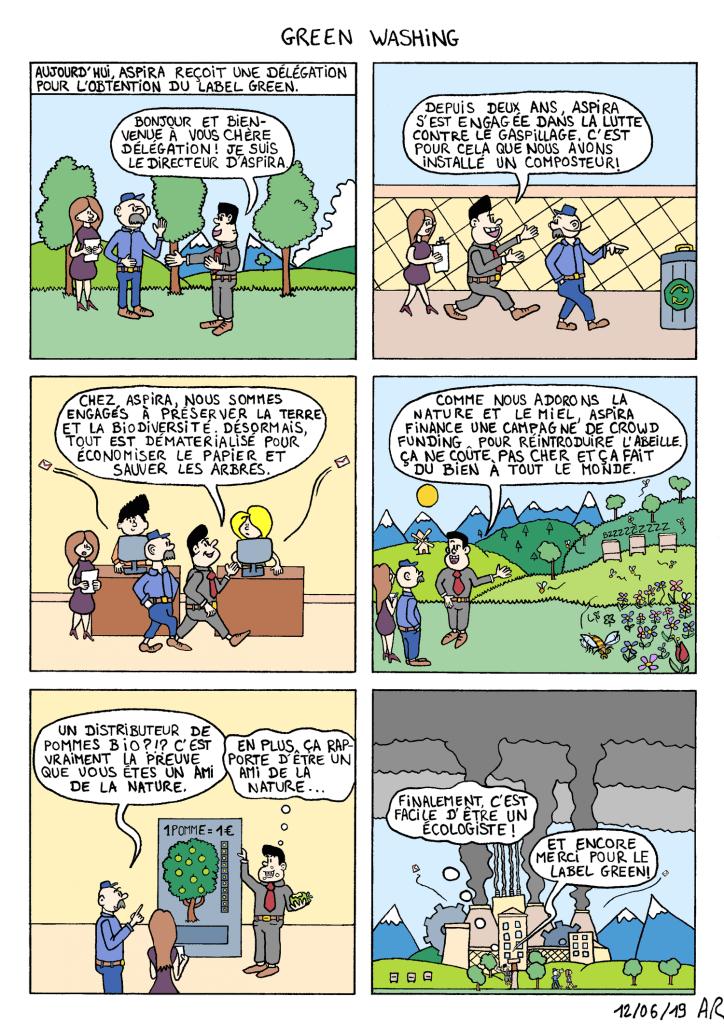 Bande dessinée sur l'écologie entreprise - dessin et environnement
