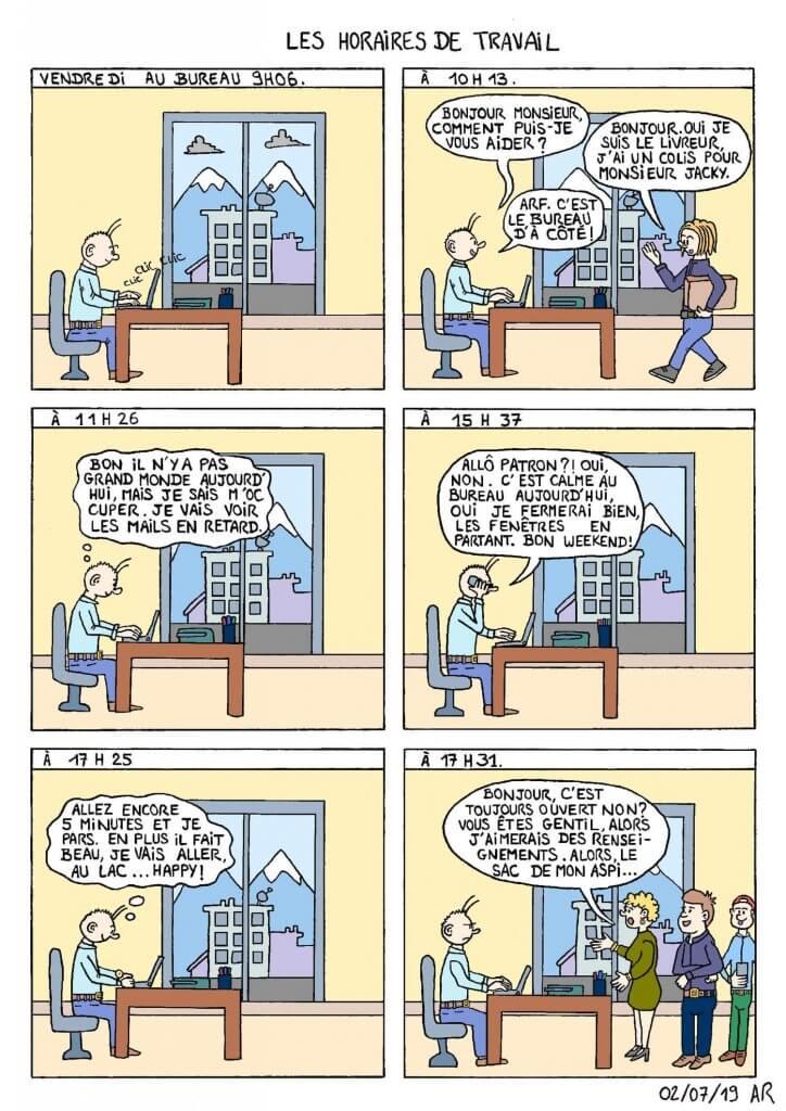 Web toon - Blague sur le travail - bande dessinée drôle sur l'entreprise.