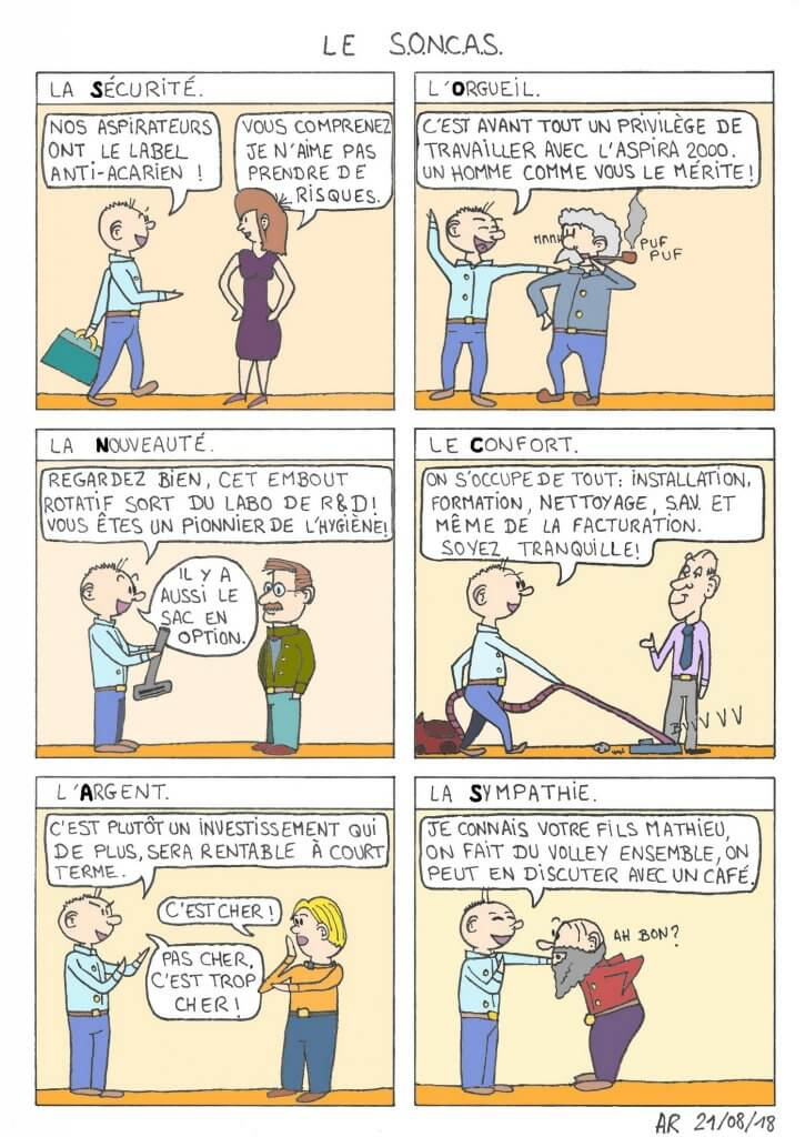 BD gratuite sur la vente - bande dessinée humoristique - le SONCAS - webtoons