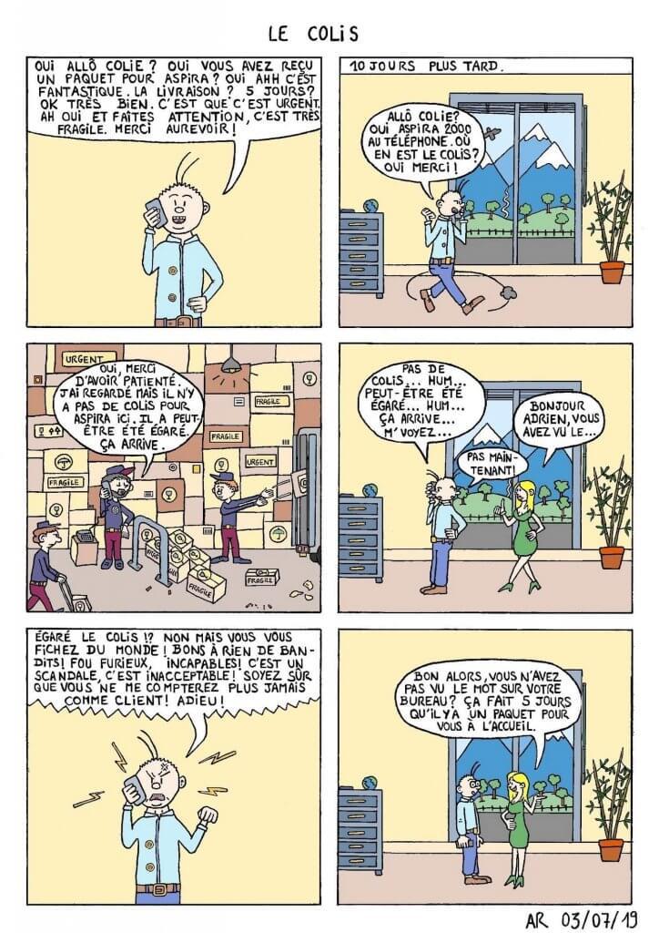 Comic strip - Français et BD d'humour