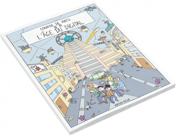 Course de rats BD - Couverture tome 2 - L'âge du digital - Bande dessinée
