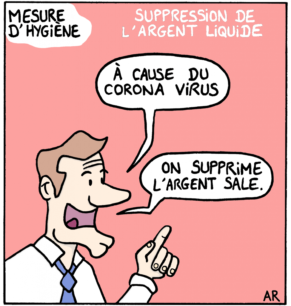 Dessin d'humour sur Macron
