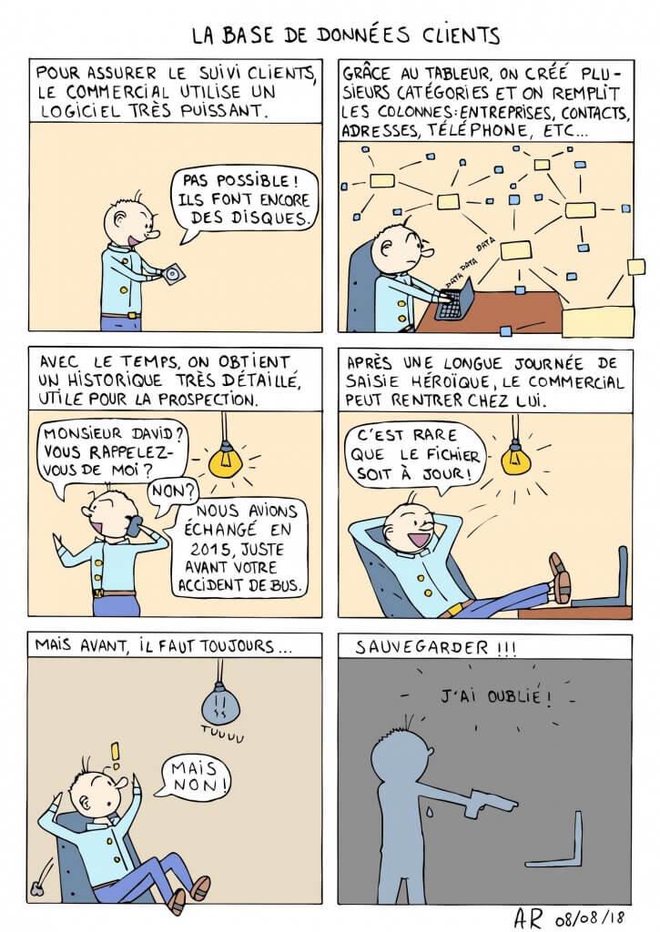BD en ligne sur la création de base de donnée - webtoon et bande dessinée comique