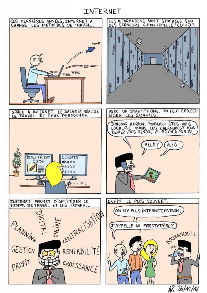 bande dessinée en ligne - Humour sur Internet dans les entreprises. web toon.
