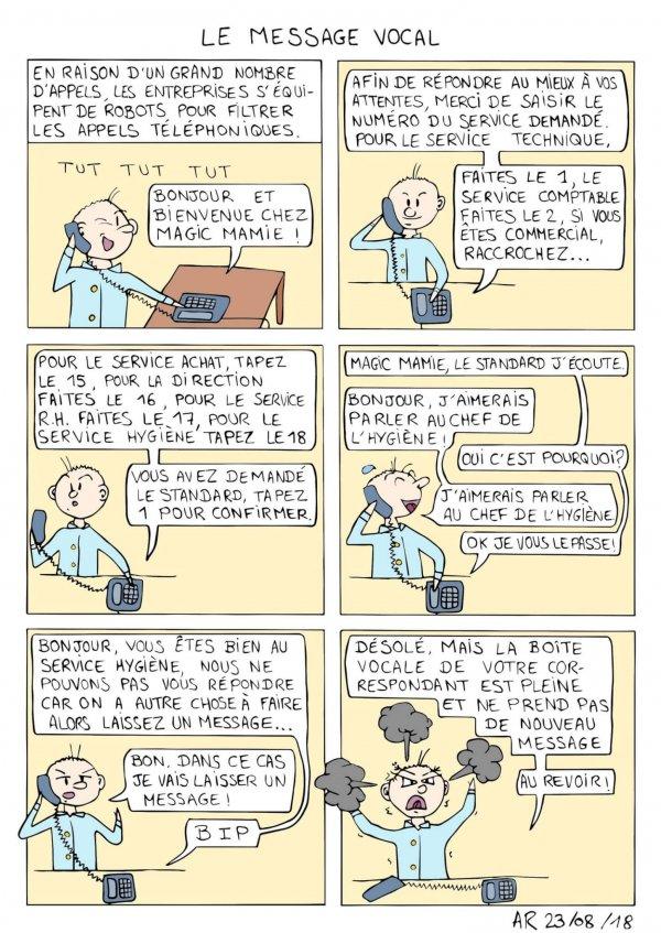 BD en ligne drôle - Le message vocal