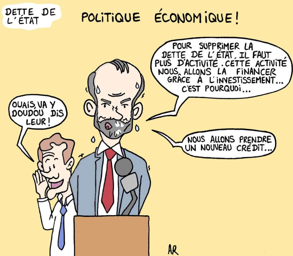 Image drôle sur la dette de la France - marrant