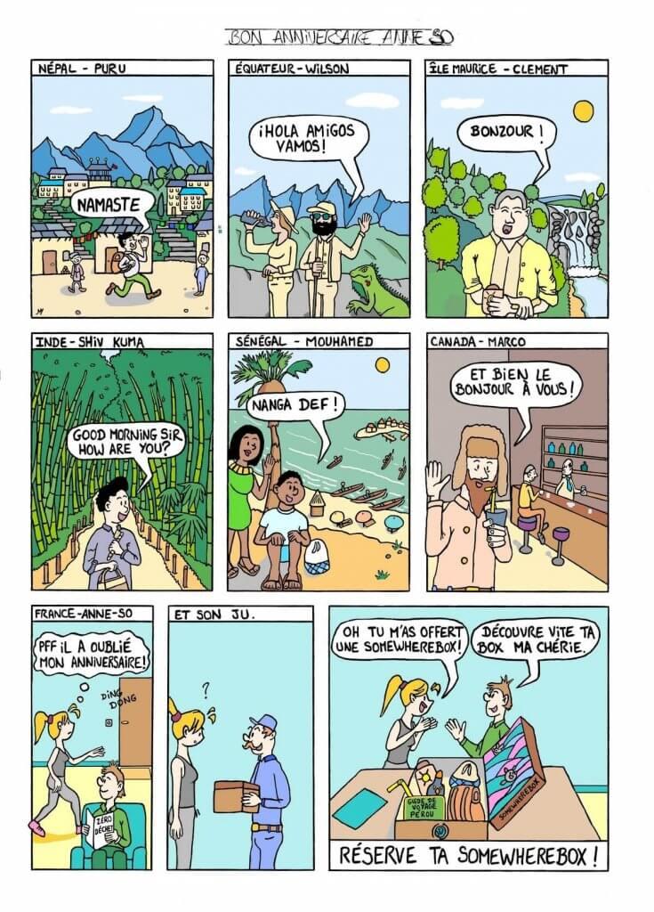 Exemple de BD d'entreprise - personnaliser une bande dessinée