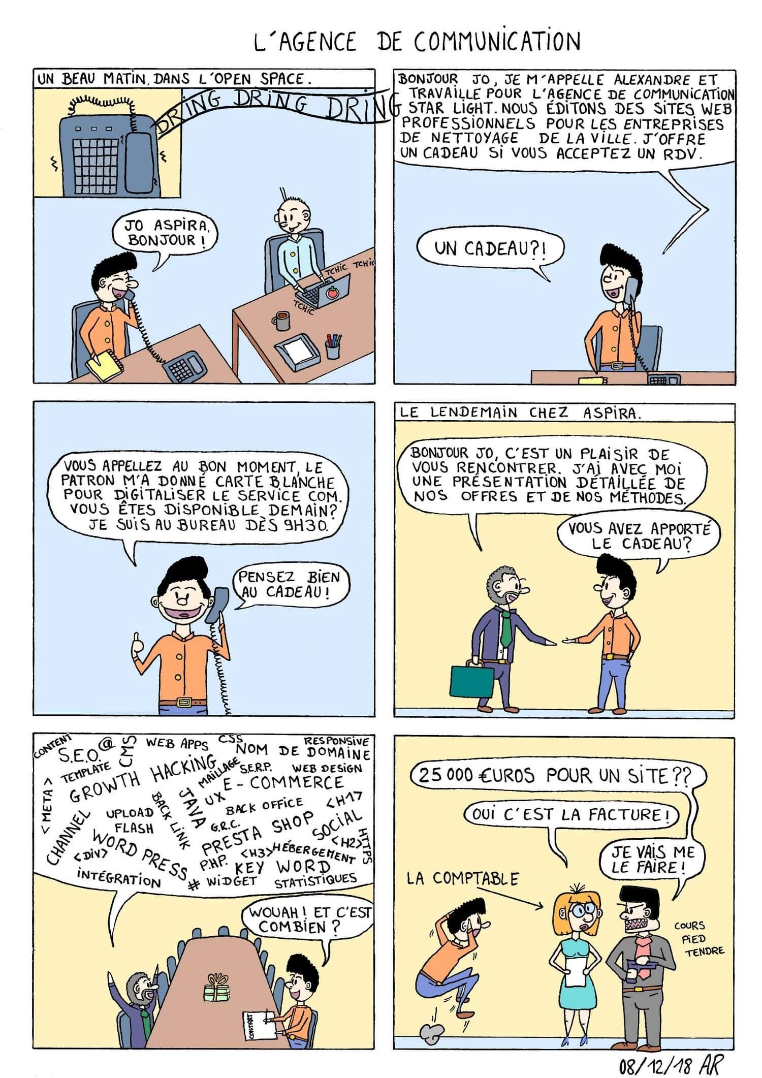 BD gratuite - L'agence de communication - bande dessinée d'humour Course de rats
