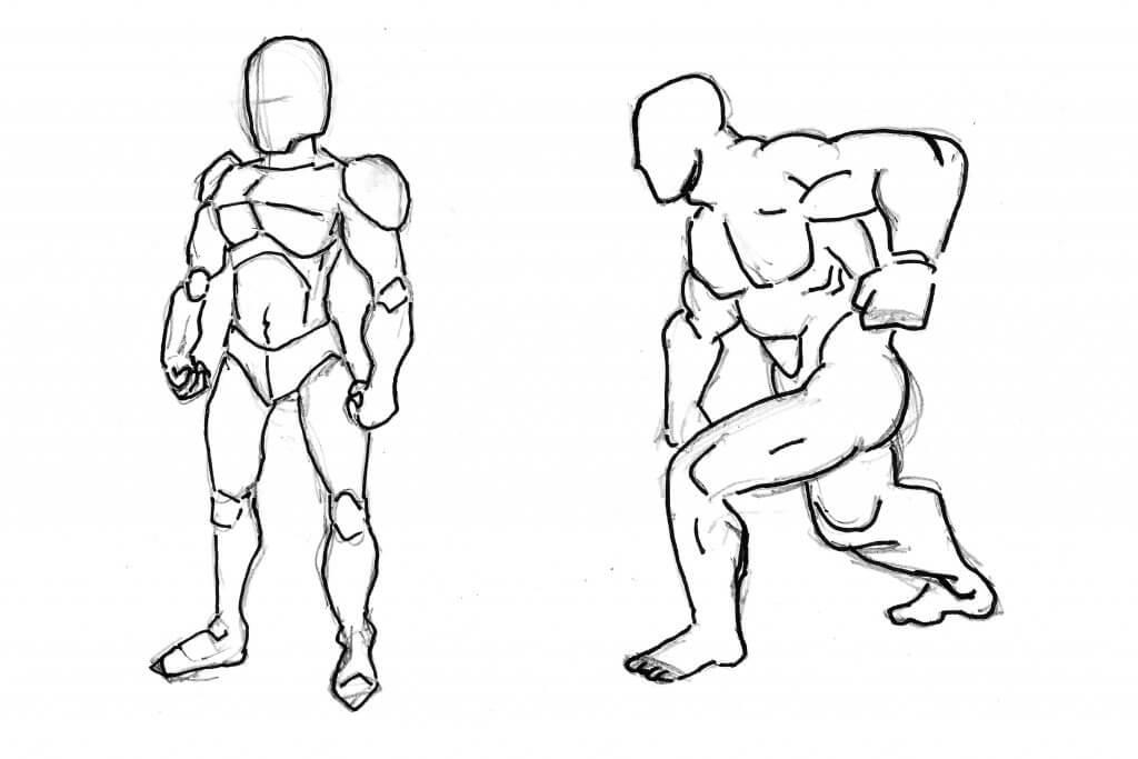 Proportions idéales du corps humain, dessin