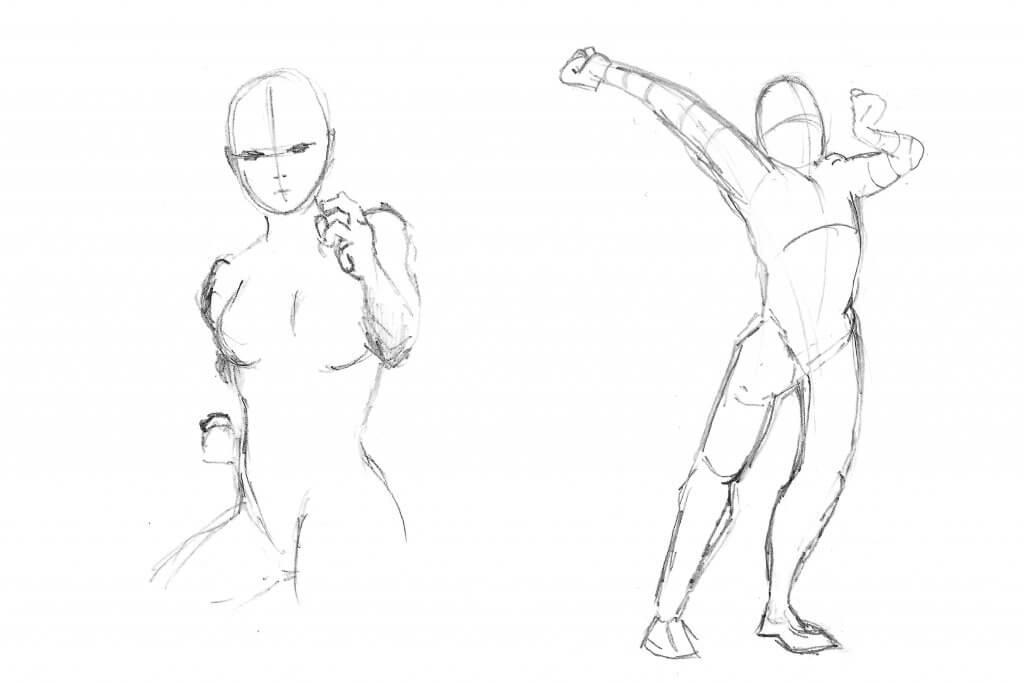 Dessin de silhouettes et proportions
