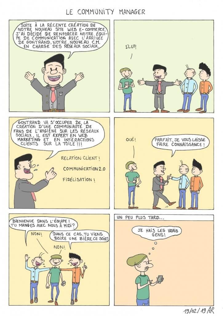 Bande dessinée - Le community manager - webcomic en ligne gratuit