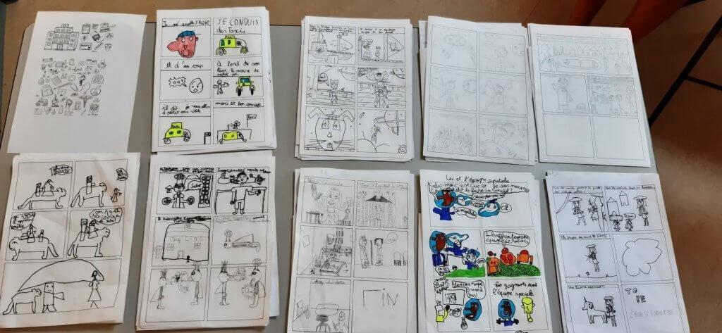 Atelier bd et cours de dessin pour les enfants