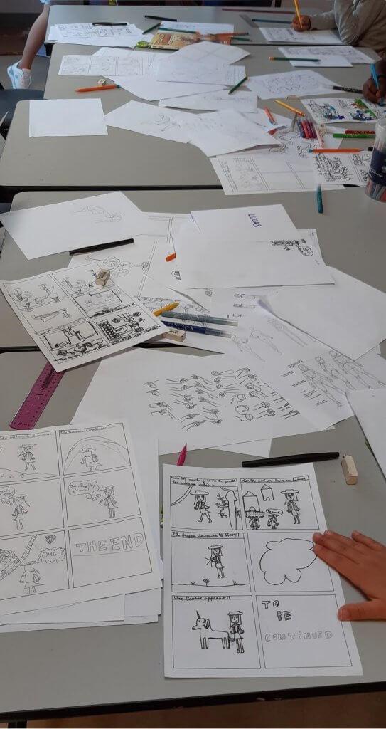 Stage de bande dessinée au centre de loisir à Seynod