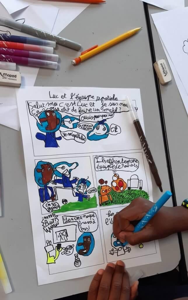 Intervention bande dessinée en centre de loisir