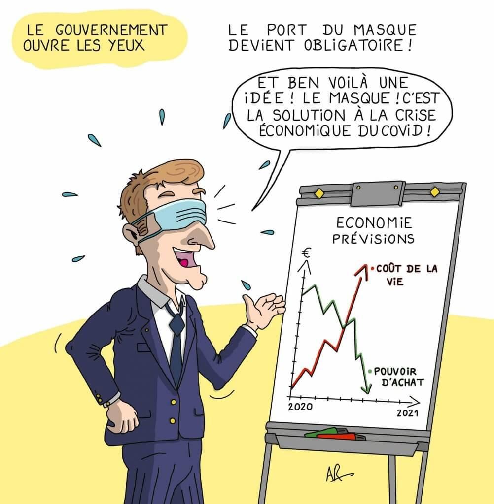 Dessin de macron - Dessin humoristique et caricature de macron