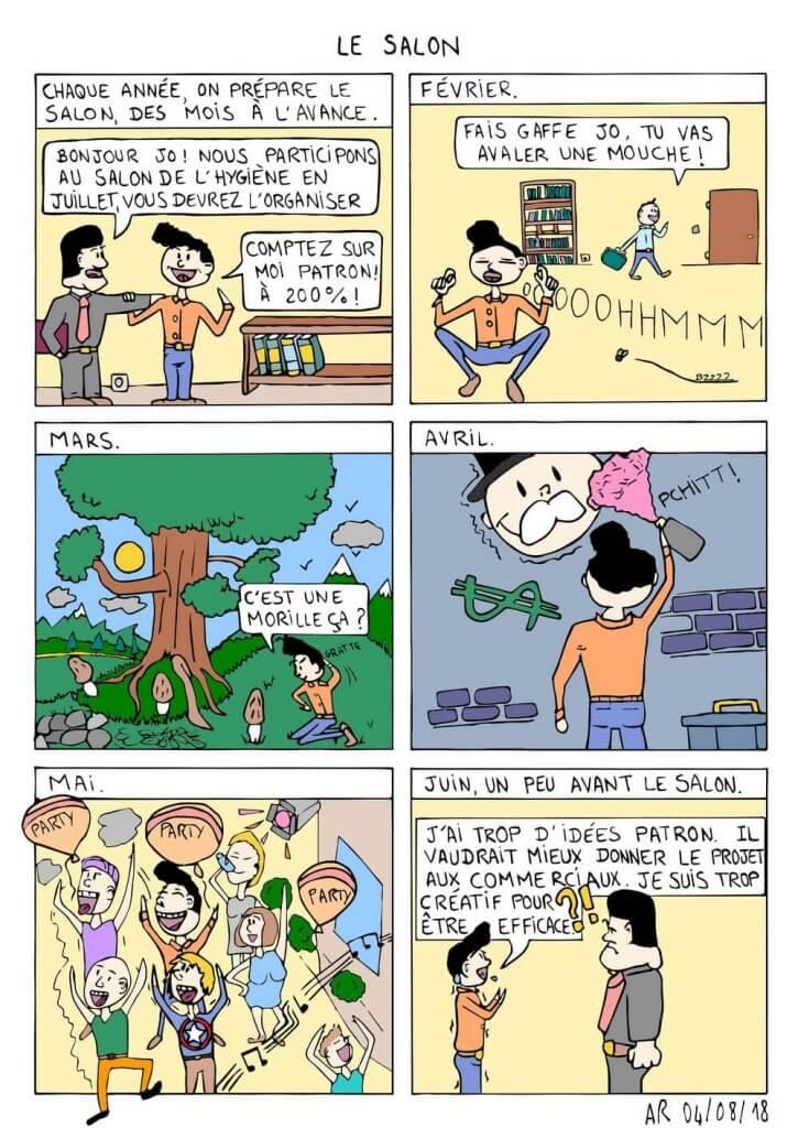 Bande dessinée d'humour sur le salon