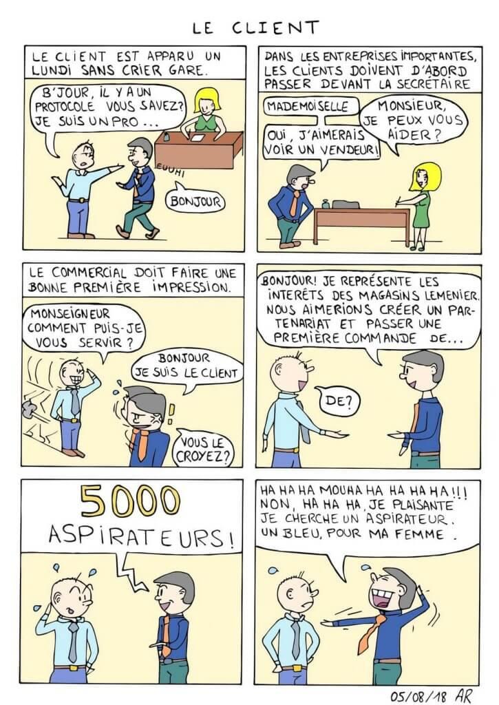 Bande dessinée numérique - le client