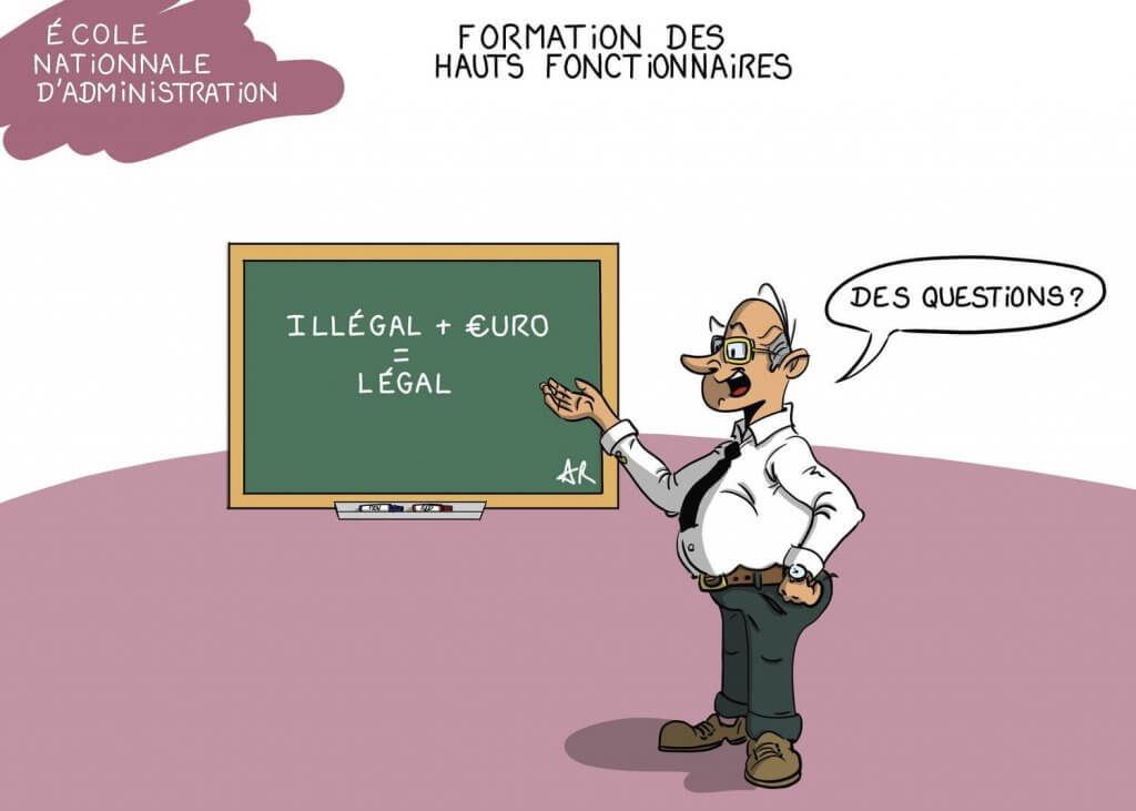 Cours magistral à l'ENA Dessin-humoristique-Humour-et-argent-1024x731