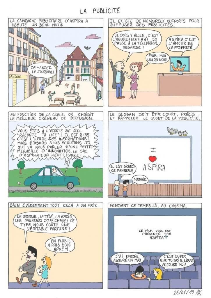 Web toon sur la publicité