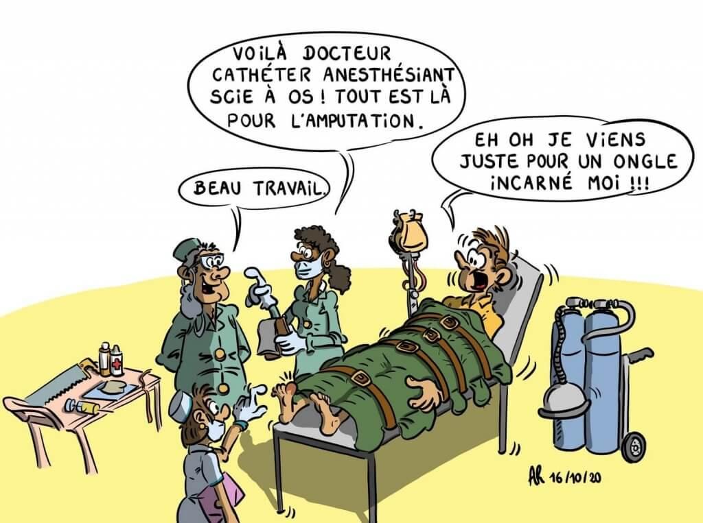 Image de dessin rigolo médecin et hôpital - dessins humoristiques