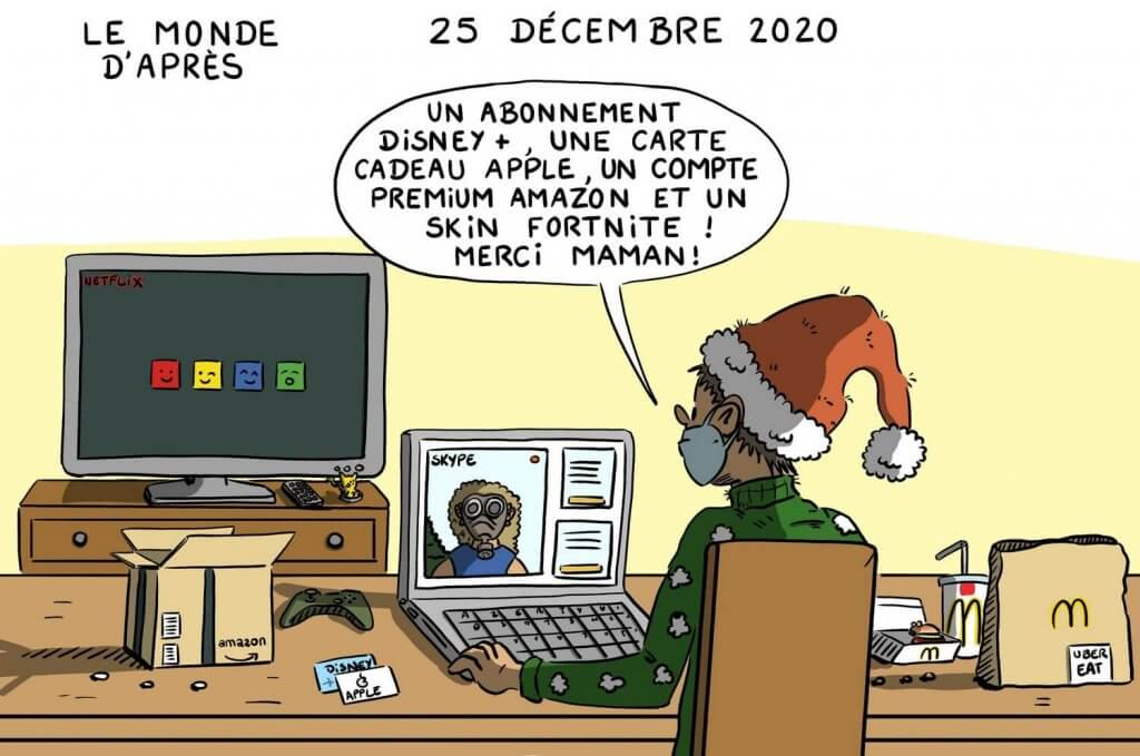 Dessin humoristique Noël