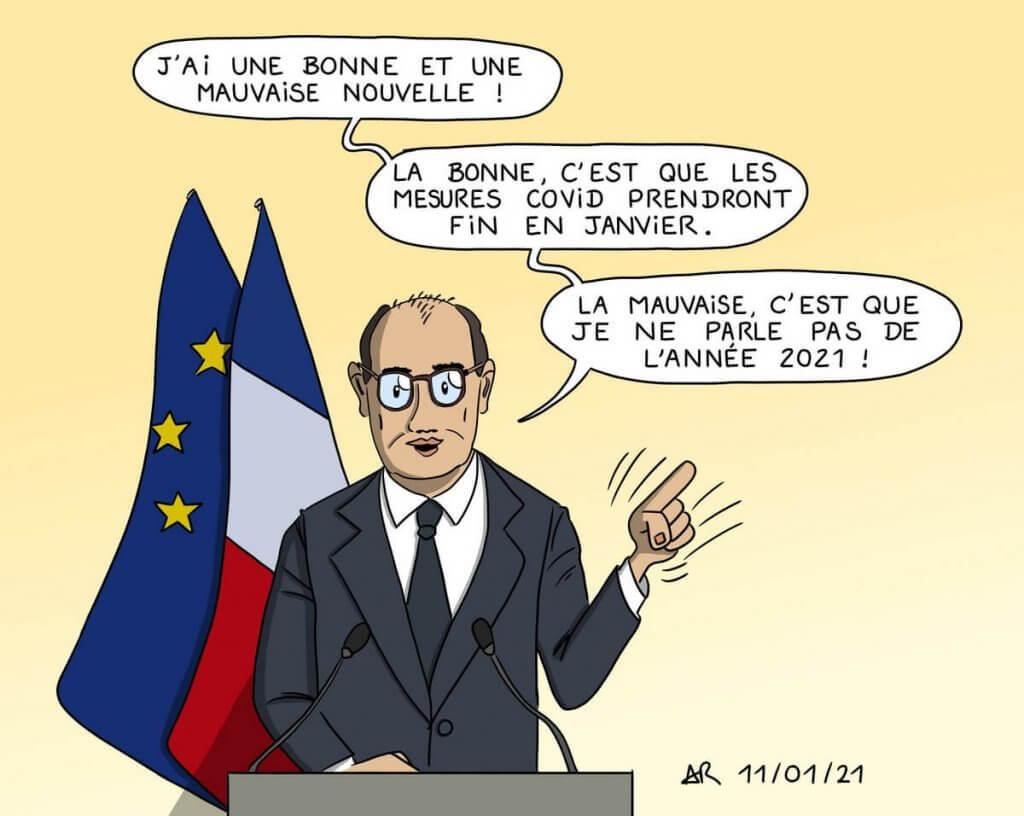 dessin de presse Jean Castex