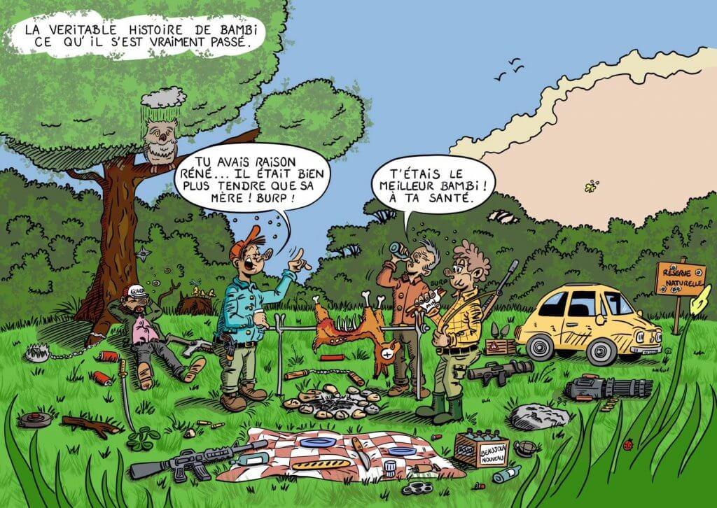 Image drôle dessin bambi