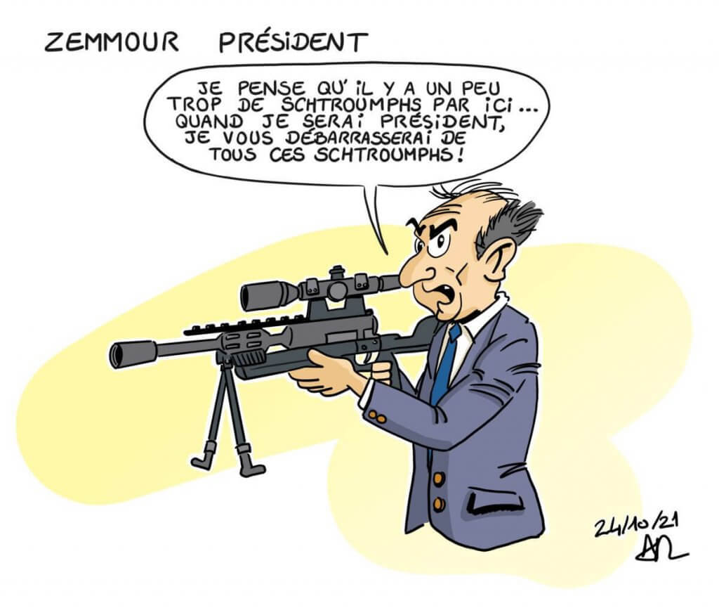 dessin de presse - Caricature zemmour gargamel
